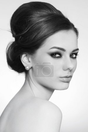 Beauty with hair bun