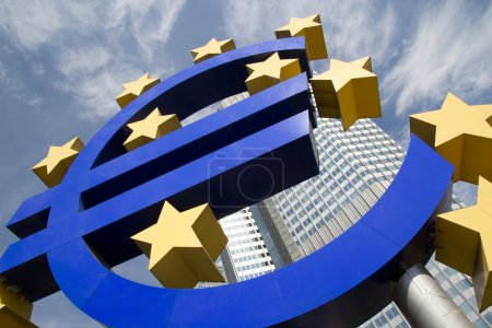 Photo for The Famous Big Euro Sign at the European Central Bank in Frankfurt, Germany. - Royalty Free Image