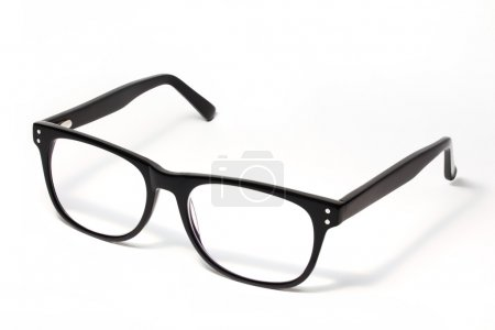 Photo for Black Eye Glasses Isolated on White - Royalty Free Image