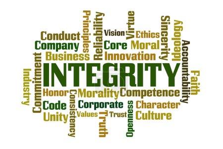 Photo pour Nuage de mot d'intégrité sur fond blanc - image libre de droit