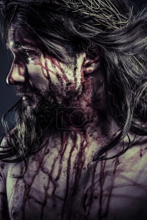 Photo for Jesus Christ with crown of thorns - Royalty Free Image