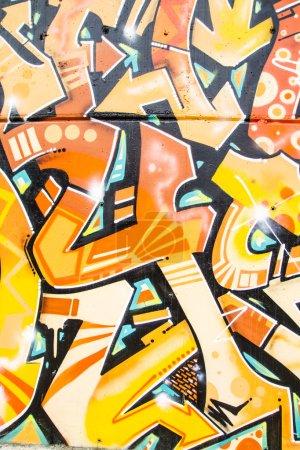 Colorful graffiti, abstract grunge graffiti background