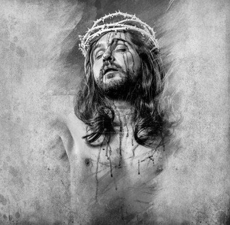 Photo for Jesus Christ with an artistic halo - Royalty Free Image