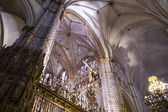 Inside the cathedral of Toledo