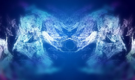 Photo for Abstract fractal texture, wisps and lights, Background design of dreamy forms and colors on the subject of dream, imagination and fantasy - Royalty Free Image