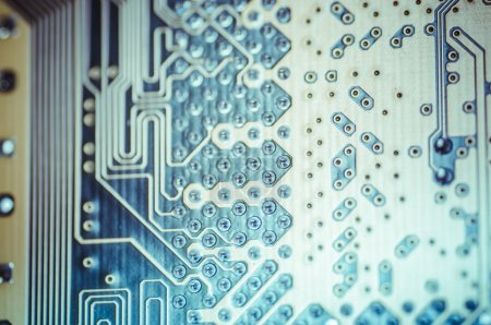 Photo for Hardware. Motherboard, computer and electronics modern background - Royalty Free Image