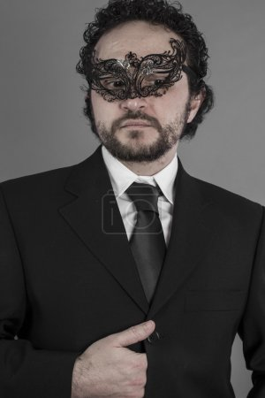 Mysterious businessman with mask