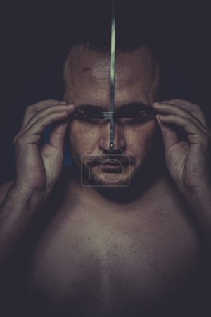 Photo for Concept of mental disorder, schizophrenia and depression - Royalty Free Image