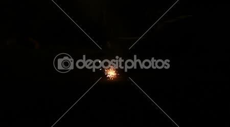 Powerful explosion of a firecracker