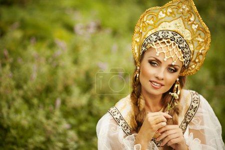 Russian beauty in headdress