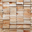 Stack of square wood planks for furniture material...