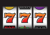 Winning Lucky Sevens slot machine