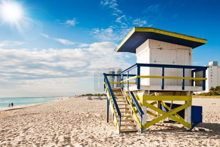 Photo for Lifeguard Tower in South Beach, Miami Beach, Florida - Royalty Free Image