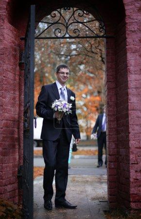 Photo pour Portrait de marié - image libre de droit