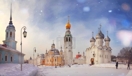 Winter view of Vologda