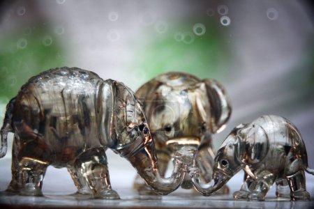 glass elephant figurines