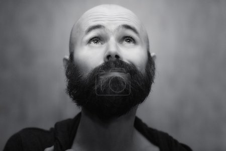 Photo for Portrait of a funny man with beard - Royalty Free Image