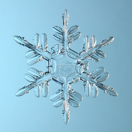 Foto de Cristal natural copo de nieve - Imagen libre de derechos