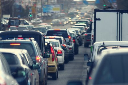 Photo for Traffic jam in the city road - Royalty Free Image