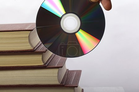 Hand with CD-ROM