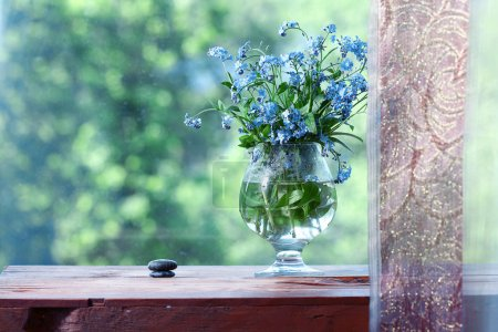 Vase with forget-me-not
