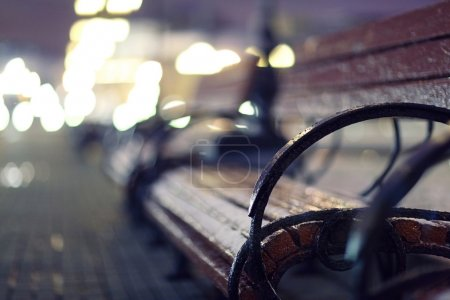 Bench in city
