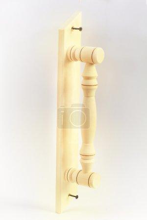 Wooden door handle