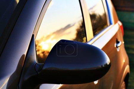 Car surface on Sunset