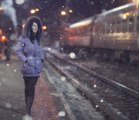 Girl at the railway station