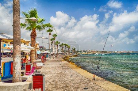 Tourist area in Cyprus city Paphos