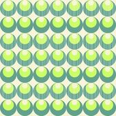 Retro circles and dots peacock style in rows turquoise green beige white seamless background