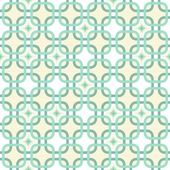 Round corner squares with diamond elements in turquoise and beige geometric seamless pattern