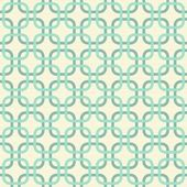 Round corner squares in turquoise and beige geometric seamless pattern