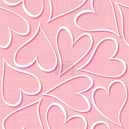 Pink hearts seamless pattern valentines background