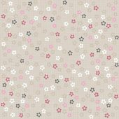 White pink gray blue little dotted flowers on light background romantic floral seamless pattern