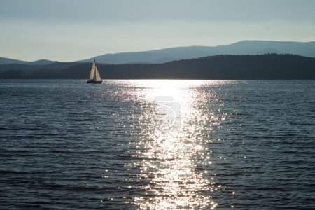 Sail on lake Lipno