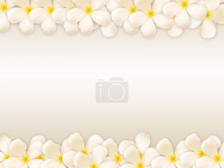 Photo pour Collage design Frangipani - image libre de droit