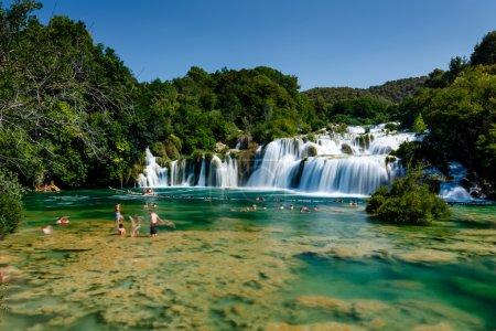 National Park Krka and Cascade of Waterfalls on River Krka, Croa