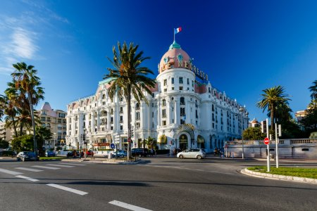 Photo for Luxury Hotel Negresco on English Promenade in Nice, French Riviera, France - Royalty Free Image