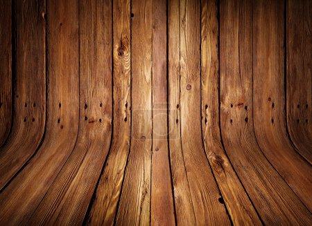 Photo for Grungy old curved wooden interior - Royalty Free Image