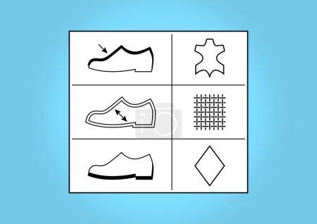 Footwear labels and symbols