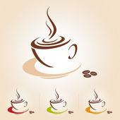 Vector sketch of coffee cup icon