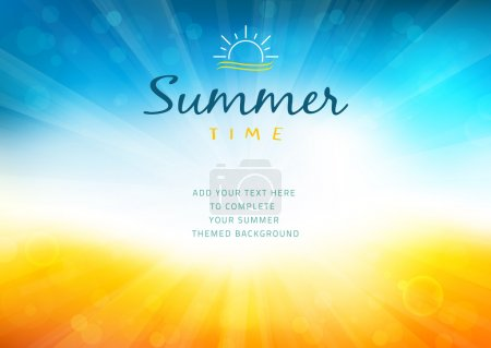 Illustration for Vector illustration of a glowing Summer time background. - Royalty Free Image