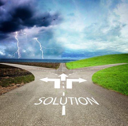 Photo pour Concept de choisir la manière correcte ou incorrecte - image libre de droit