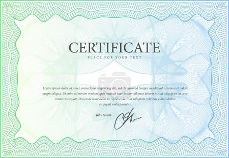 Illustration for Vector pattern that is used in currency, diplomas and certificate - Royalty Free Image