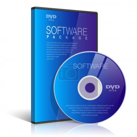 Realistic Case for DVD Or CD Disk