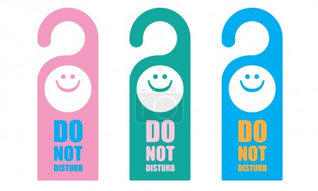 Hanger sign do not disturb vector