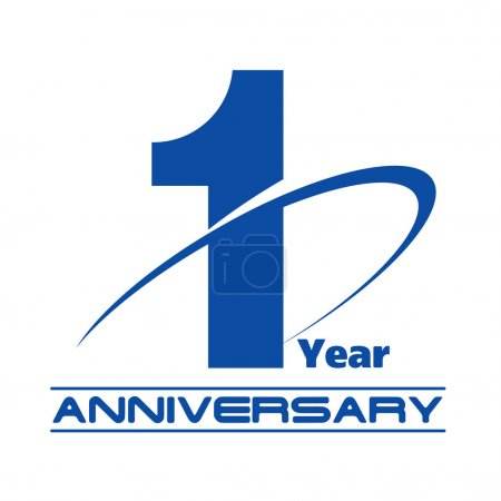 1 year anniversary creative concept vector