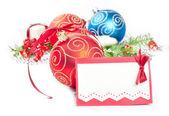 Vánoční koule s borovice dekorace