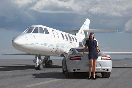 A luxurious flight
